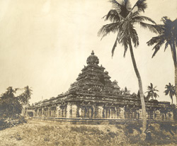 South-east view, Vaikuntaperumal Temple, Great Conjeeveram, Chingleput District